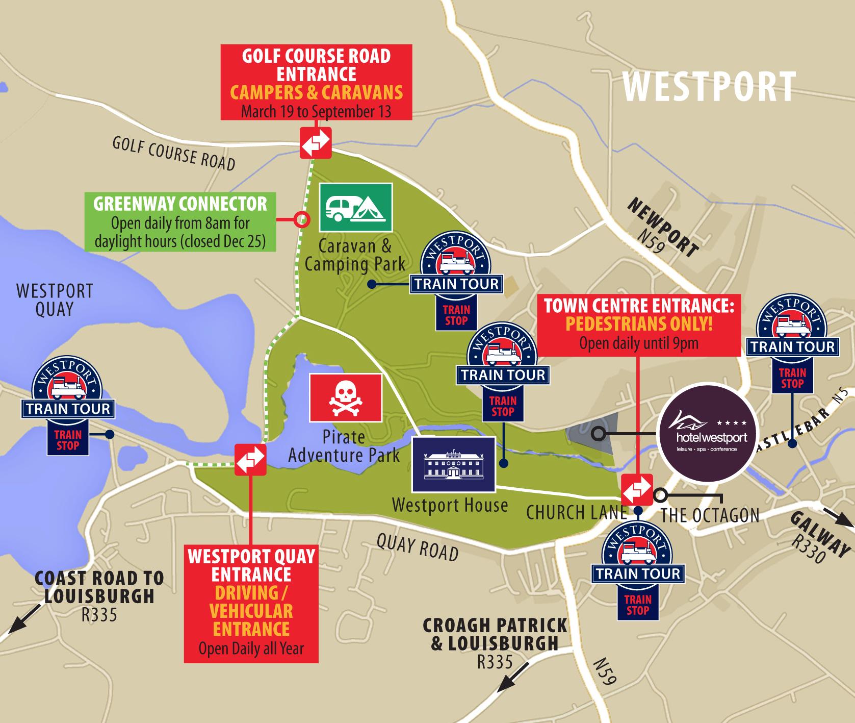 Find Us Westport House - Find us map