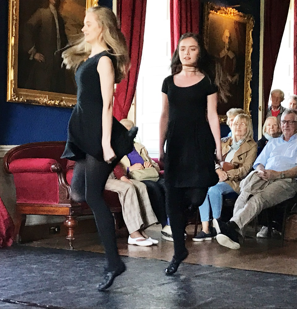 The audience loved the beauty and poise of the dancers from the Cresham School of Dance performing in the Long Gallery of Westport House for a visiting group in May 2017.