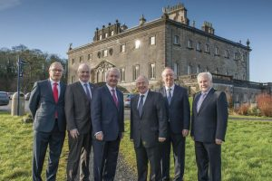 From left to right: Owen Hughes, Peter Hynes, Cathal Hughes, Minister Michael Ring, Harry Hughes and Con Casey
