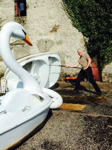 Swan Pedal Boats - one of the family friendly attractions at Westport House