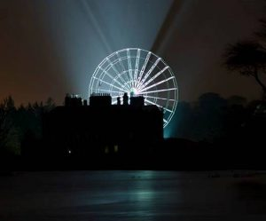 The Giant Wheel at Westport House at night...photo courtesy of Michael Gannon Photography.