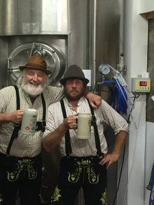 Killian and Bart from Mescan getting ready for Oktoberfest.