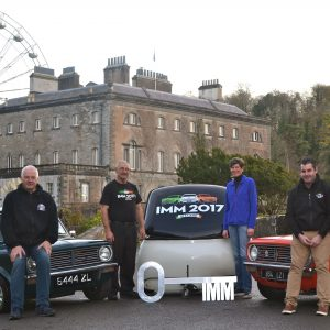 Left to right - Alisdair Keys and Joe Conboy the Irish Mini Owners Club, Sheelyn Browne, Westport House and Joe Whyte, the Irish Mini Owners Club
